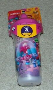 ~NEW Girls PLAYTEX TROLLS BPA Free Sipsters Cup! 12M+ Super Cute FS:)~