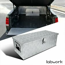 30x13x98 Cuboid Aluminum Tool Box For Truck Flatbed Rv Camper Withside Handle Fits Tacoma