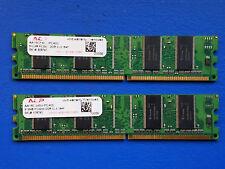 ACP 1 GB Kit (2x512 MB) DDR DIMM CL3 (AA16C6464-PC400) PC-3200 Desktop RAM