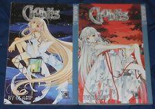 Chobits Japanese TokyoPop Science Fiction Manga Anime Graphic Novel 2 Book lot