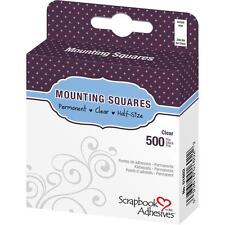 3 PKGS 3L-SCRAPBOOK ADHESIVES PERMANENT MOUNTING SQUARES 500 CLEAR-093616016022
