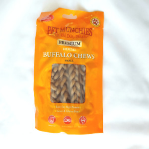 Pet Munchies Buffalo Chews Long-lasting and Low-Fat Dog Treats 3 Sizes Available