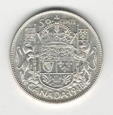 Canada 1948 50 Cent Silver