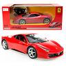 RASTAR OFFICIAL LICENSED Red Ferrari 458 Italia R/C Remote Control CAR 1:14 NEW