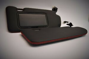 Nissan R35 GTR trimming service for sun visors - leather/any colour stitch