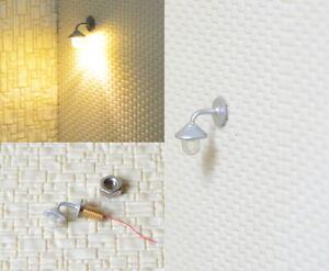 S274 - 5 Stück Wandlampen LED 1-flammig für H0 Häuser Gebäude Straßenlampen