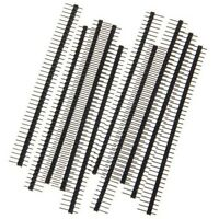 10PCS 40Pin 2.54mm Single Row Straight Male Pin Header Strip 1*40P for Ardunio