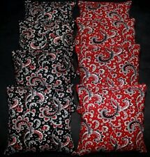 Wedding Black And Red Paisley Beanbags 8 Aca Regulation Cornhole Bean Bags