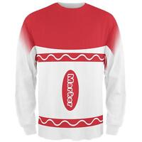 Halloween Marker Costume Red All Over Mens Long Sleeve T Shirt
