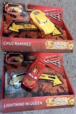 2 New Disney Pixar Cars 3 Crazy 8 Crashers, Lightning McQueen & Cruz Ramirez