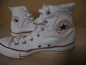 Converse All Star. White High Tops Sneakers Pumps Trainers. Size 4.5