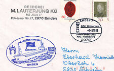 GERMAN CARGO SHIP MARC L A SHIPS CACHED COVER