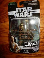 C-3PO FIGURE WITH EWOK THRONE STAR WARS PLUS EXCLUSIVE HOLOGRAM FIGURE Year 2006