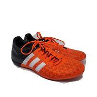 Adidas Mens Orange Black Lace Up Low Top Athletic Sneaker Shoes Size US 7