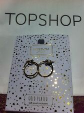 Gold Plated Diamanté Earrings Topshop New Gift Pouch BNWT