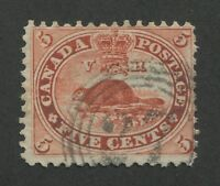 """CANADA #15 USED 4-RING NUMERAL CANCEL """"27"""" (.01)"""