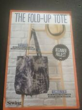 Simply sewing the fold-up tote bag pattern uncut
