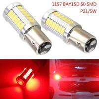 2 x WHITE 1157 P21/5W 380 BAY15D 33 smd CAR STOP TAIL BRAKE LED BULBS LAMP LIGHT