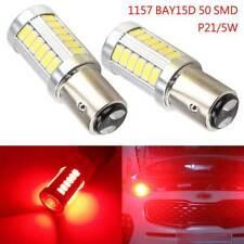 2 x WHITE 1157 P21/5W 380 BAY15D 33 smd CAR STOP TAIL BRAKE LED BULBS LAMP LIGHT