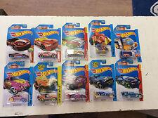 Lot of 10 2015 Hot Wheels Treasure Hunt Cars HW City Fast Gassin Rocketfire
