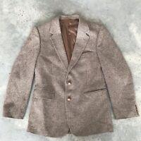 Egon Von Furstenberg Wool Beige Sport Coat Blazer Jacket (QB) SZ 44 R / 44R