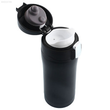1540 350ml Travel Mug Water Bottle Stainless Steel Vacuum Flask Thermos Cup Blac