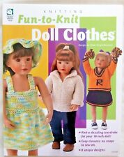 """Fun-to-Knit Doll Clothes Knitting Book Andra-Knight Bowman for 18"""" American Girl"""