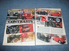 """1932 Ford B-400 Stock and Street Rod Vintage Article """"Contrasts"""""""