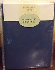 Whole Home Twin Bedskirt Blue 210 Thread Count Nip