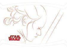 Star Wars The Last Jedi Series 1 RED LINE ARTWORK Trading Card Insert RL-1 / REY