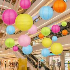 4 8 10 inch Round Chinese Paper Lantern DIY Hanging Ball Lamp Wedding Home Decor