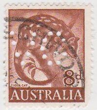 (PDX573) 1959 AU 8d Brown Tiger Cat (I)