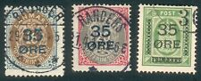 Denmark Mi.-Nr.60/62 o (MICHEL € 150,00) feinst/pracht