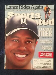 3.2.2009 TIGER WOODS GOLF Sports Illustrated Lance Armstrong- Matthew Stafford