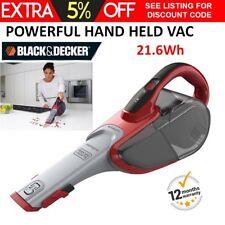 NEW Black+Decker Cordless Vac 21.6Wh Hand Vacuum Lithium Handheld Car Cleaner