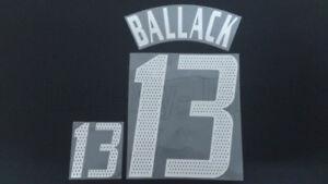 BALLACK #13 Germany Away 2002-2005 Name Set