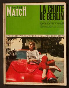 'PARIS - MATCH' FRENCH VINTAGE MAGAZINE BRIGITTE BARDOT COVER 14 MAY 1966