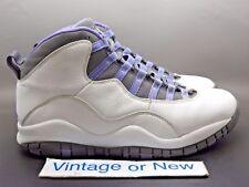 Women's Air Jordan X 10 White Violet Retro 2005 sz 9.5/Men's sz 8