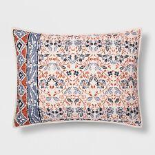 ONE Threshold FLORAL STRIPE Pillow Sham   Standard NEW TARGET