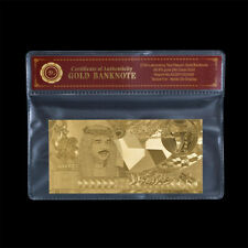 WR Bahrain 20 Dinars Gold Foil Banknote King Hamad Middle East Souvenir Gifts