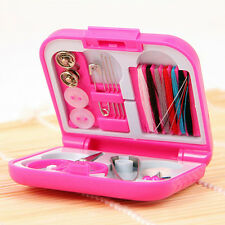 Portable Travel Sewing Kits Needle Threads Scissor Thimble with Storage Box Home