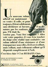 Publicité ancienne ruban Rubafix 1968