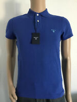 GANT CONTRAST COLLAR PIQUE SS RUGGER POLO SHIRT NEW COL LUMINARY BLUE 6