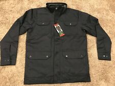 Orvis Men Charcoal Blue Button Down Insulated Field Coat Jacket Many Sizes U45