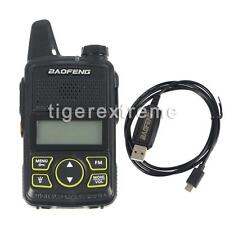 Baofeng MINI Radio BF-T1 UHF 400-470MHz + Earpiece & Programming Cable US