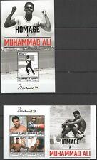 DJ088 SALE DJIBOUTI SPORT BOX MUHAMMAD ALI FAMOUS PEOPLE KB+BL MNH