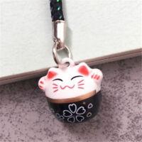 Maneki Neko Fortune Lucky Beckoning Cat Keyring Keychain Key Ring Chain Gift T