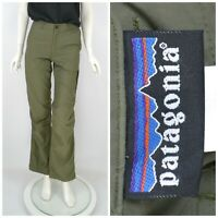 Womens Patagonia Hiking Trousers Pants Outdoor Green Nylon Size 2 /S
