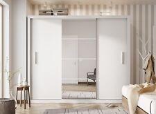 Brand New Modern Bedroom Wardrobe Sliding Door with Mirror IDEA in White 250cm