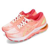 Asics Gel-Nimbus 21 White Sun Coral Women Running Shoes Sneakers 1012A611-100